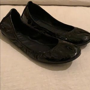 Black Patent Tory Burch Flats